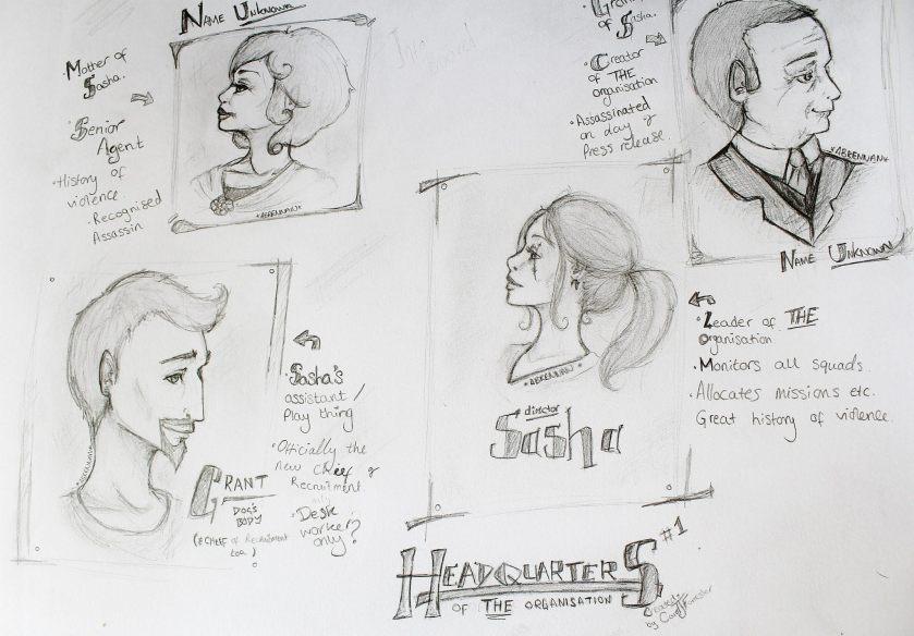 Headquarters Characters