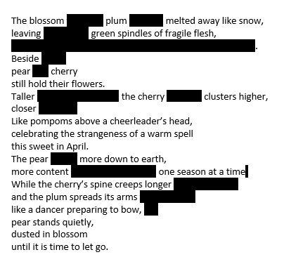Poem Orchard Blossom